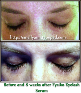 before fysiko eyelash growth serum and after pictures